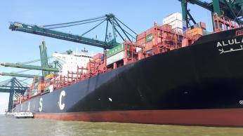 binnenvaart, zeeschip, Antwerpen