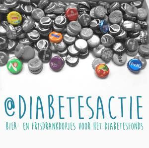 Bier- en frisdrankdopjes voor het Diabetesfonds